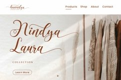 Hanindya - Elegant Calligraphy Script Font Product Image 4