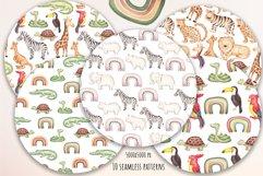 "Watercolor Clipart ""Safari Animals"" Product Image 5"