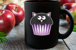 Cute Halloween Cupcake Stickers Product Image 4