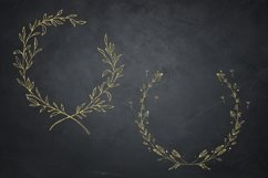 Gold Glitter Laurels Clipart, Laurel Wreaths, Glitter Wreath Product Image 4