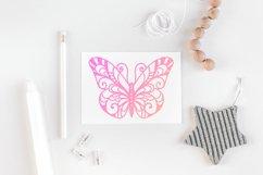 60 Butterfly SVG cut files - simple & split monogram Product Image 5