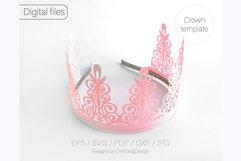 Birthday crown svg cricut Tiara svg Princess crown svg Product Image 2