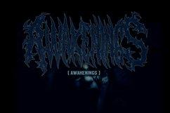 SUICIDE brutal death metal font #2 Product Image 5