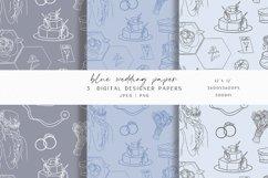 Blue Wedding Digital Paper Product Image 1