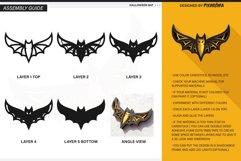 Halloween Bat 3D Layered SVG Cut File Product Image 4