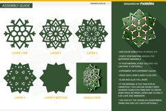 Snowflake 02 3D Layered SVG Cut File Product Image 4