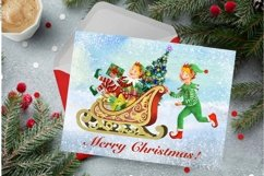 Elf kit watercolor,Christmas clipart,Santa's Helpers Png,jpg Product Image 4