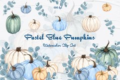 Blue Pumpkins Watercolor Clipart Product Image 1
