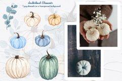 Blue Pumpkins Watercolor Clipart Product Image 2