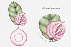 "Watercolor ClipArt ""Tropics Indoor Product Image 4"