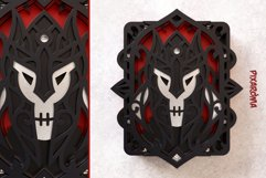 Evil Knight Wall Art 3D Layered SVG Cut File Product Image 4