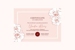 Rose Certificate of Completion Editable Canva Template. Product Image 4