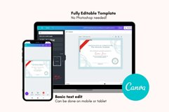 Classic Certificate of Completion Editable Canva Template. Product Image 4