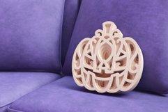 Halloween Pumpkin 3D Layered SVG Cut File Product Image 4