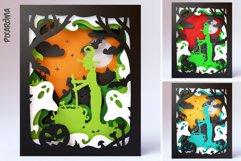 Halloween Wall Art 3D Layered SVG Cut File Shadowbox Product Image 4