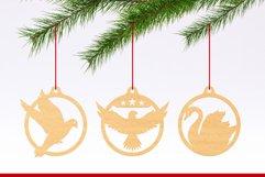 Laser Cut Files Vol.3 - 50 Animal Ornaments Bundle Product Image 4