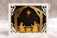 Nativity Scene 3D Layered SVG Cut File Product Image 4
