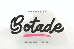 Botade | Metroscript Typeface Font Product Image 1