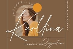 Karllina Handwriting Signature Product Image 1