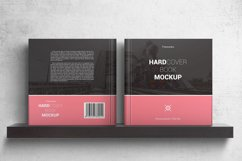 Square Hardcover Book Mockups Product Image 2