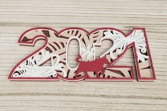 New Year laser cut file - 2021 - Year of the Ox Product Image 3