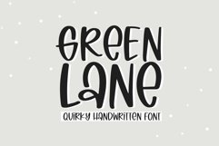 Web Font Green Lane - A Quirky Handwritten Font Product Image 1
