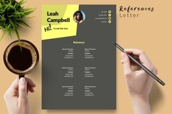 Modern Resume CV Template for Word & Pages Leah Campbell Product Image 6