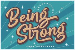 Being Strong Layered Font Product Image 1