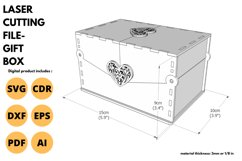 Gift Box - SVG - Laser cutting File Product Image 3