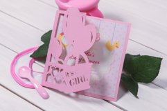 Baby Shower Invitation, Its a Girl cutting file Product Image 3