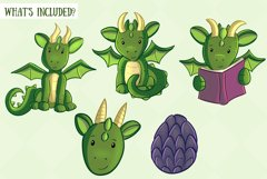 Cute Dragons Clip Art Collection Product Image 2