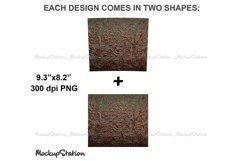 Tooled Leather 20oz Skinny Tumbler Sublimation Design PNG Product Image 3