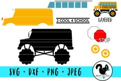 Monster Truck 2 Cool 4 School, School Bus With Dirt Mound Product Image 3
