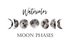 Watercolor Moon Phases Product Image 1