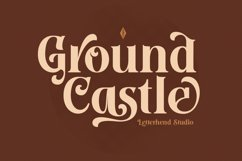 Ground Castle - High Contrast Serif Product Image 1