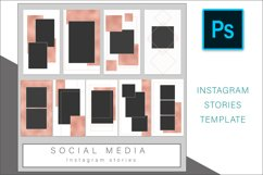 Rose Gold Instagram Stories Photoshop template Product Image 3