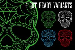 Puppy Calavera Tattoo Style Vector Product Image 5