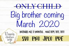 Only child, Big brother | SVG Cutting File Product Image 1