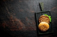 20 Photos Burgers with sauces and spices. Burger backgrounds Product Image 6