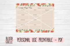 Weekly Meal Plan, Floral - PDF Product Image 2