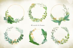 Watercolor & Gold Tropical Leaves Collection Product Image 5