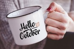 Hello October Lettering Phrase Text Graphic Product Image 2