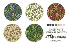 CHESTNUTS vector seamless patterns Product Image 2