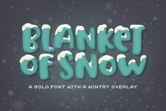 Blanket of Snow Font Product Image 1