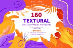 Textural abstract shapes and leaves Product Image 1