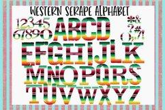 Western Serape Alphabet Sublimation Digital Download Product Image 1