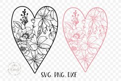 Valentines Love Heart with a Floral Pattern Product Image 3
