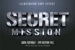 3d silver metallic style editable font effect Product Image 1