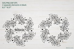Christmas Wreath SVG graphic, Christmas ornament SVG file Product Image 3