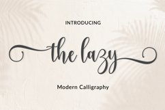 The lazy | WEB FONT Product Image 1